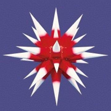Herrnhuter Stern für Innen rot-weiß 60 cm